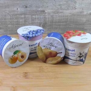 Yaourts Abricot Myrtille Poire Fraise